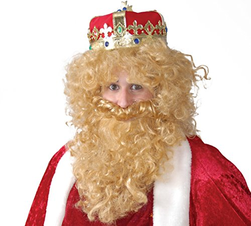 Guirca- Peluca barba rey mago rubio caja