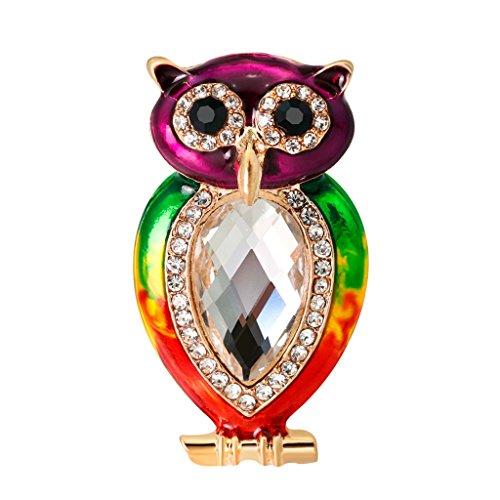 Homyl Tier-Kristallbrosche Hübsche Accessory Vogel förmig Party Ornamente Mode Schmuck Geschenk
