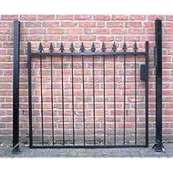 Hoftor Gartentor Einfahrtstor Tor schwarz Breite 130cm x Höhe 100cm