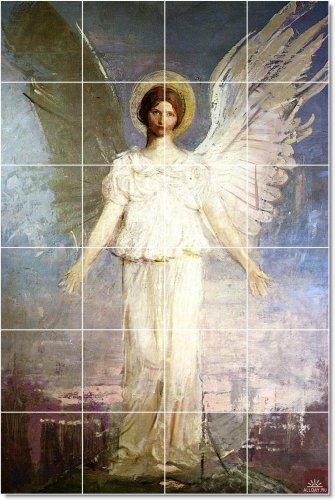 ABBOTT HANDERSON THAYER ANGELES TILE MURAL HOGAR MODERNO 17 X 64 77 CM CON COZEE  (24) 4 25 X 4 25 AZULEJOS DE CERAMICA