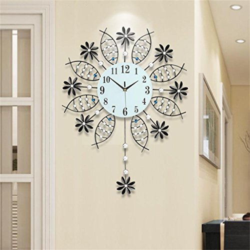 TOYM-reloj moderno salón reloj reloj de pared minimalista creativo pivotar muda pared del arte del reloj de cuarzo reloj de pared de la habitación grande de Europa