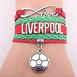 WEI Armband Multilayer geflochtenes Fußball Armband Liverpool Club Brief Armband Fan Geschenk,Bild,Einheitsgröße