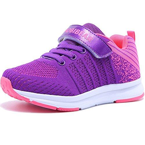 HAP JUMP Hallenschuhe Kinder Turnschuhe Jungen Sport Schuhe Mädchen Sneaker Outdoor Laufschuhe für Unisex-Kinder - Violett - 29 EU