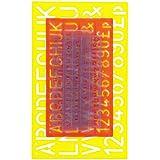 Helix 216268 - Paquete de 4 reglas con letras y números