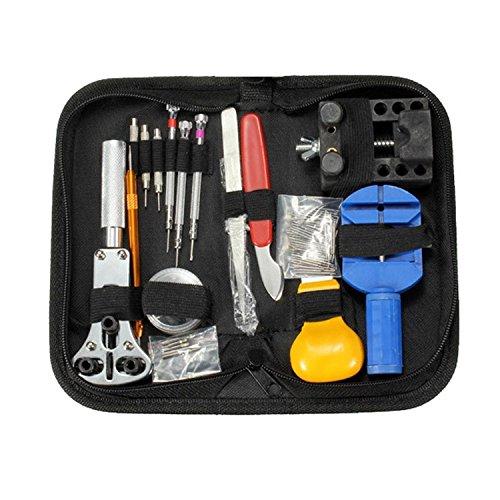 Preisvergleich Produktbild vzer tragbar 144pcs Armbanduhr Rückseite Fall Halter Öffner Pin Link Entferner Spring Bar Repair Tool Kit