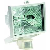 as - Schwabe 43501 Lampe halogène avec détecteur de mouvement 400 W Blanc