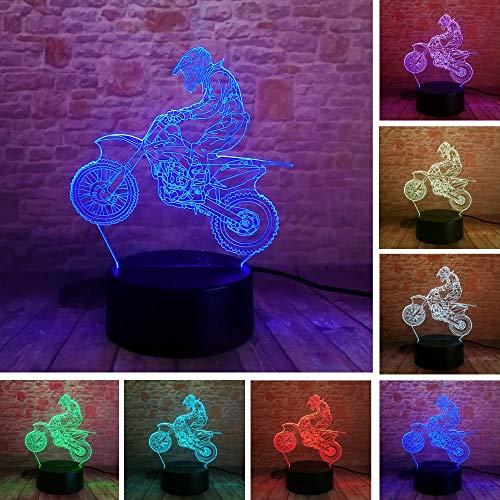 3D Lampara Extremität Motorrad LED Cool Man Boy Nachtlicht LED Schreibtisch Tisch RGB Farbverlauf Kind Geburtstag Neujahr Geschenke