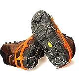 Pixnor Un paio di anti-scivolo ghiaccio tacchette scarpe Boot battistrada impugnature trazione ramponi catena Spike pinze Overshoes