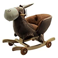 Kids Childrens Donkey Animal Rocker Rocking Toddler Infant Baby Toy Gift By HOME HUT®