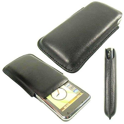 caseroxx Classic Etui Handy-Tasche für Samsung SGH-i900 Omnia aus Echtleder, Handy-Hülle in schwarz