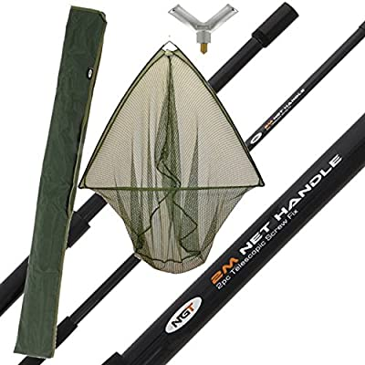 """42"""" Carp Fishing Landing Net With 2m Handle + Stink Bag from ngt"""