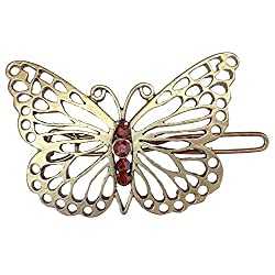 B-Fashionable Grill Butterfly Wire Clasp Hair Pin
