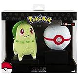 TOMY Pokémon  Plüsch | Endivie und  Premier Pokéball - Spielset | Kuscheltier für Kinder ab 3 Jahre | Plüschtier - ideal als Geschenk | Pokémon Figur (ca.20cm),  Plüschball
