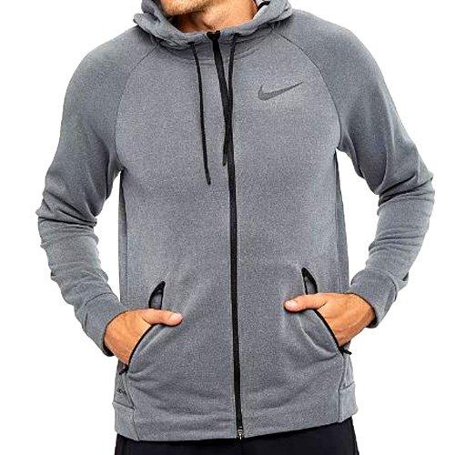 Nike Men's Dry Training Hoodie Chaqueta, Hombre, Oscuro/Gris/Negro, L