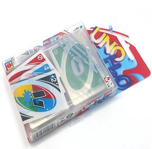 H2O UNO Cartas juego de cartas impermeable con tarjeta de PVC 108PCS c