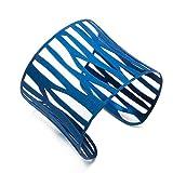 Weihnachtssale -50% FANCYDELI Weihnachtsgeschenke Schmuck Damen Edelstahl Mode Armband Armreif in edeles Hollow Design - Geschenk für Frauen Mädchen Blau