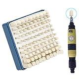 100pcs Schleifen Polieren - Multifunktionale Wolle Filzstift montiert Polierköpfe Zubehör Fitting Kit - 1/8 Zoll Schaft für Dremel