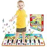 Tappeto Musicale Piano Mat Tocca la tastiera Bambino Piano Playmat Strumento per bambini Ragazzi delle bambine (110 * 36 cm)