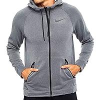 Nike Men's Dry Training Hoodie Chaqueta, Hombre Oscuro/Gris/Negro, M