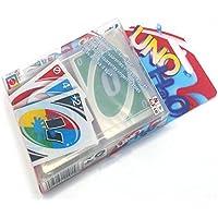 H2O UNO Cartas juego de cartas impermeable con tarjeta de PVC 108PCS con instrucciones, 58 mm * 86 mm, tablero portátil / desarrollo / interior / juego popular, para familia / amigos / adolescente / ni?os / ni?os jugando, doble cara de color y transparente