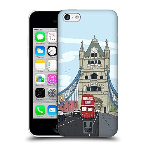 Head Case Designs Parigi Doodle Delle Città Serie 2 Cover Retro Rigida per Apple iPhone 3G / 3GS Londra