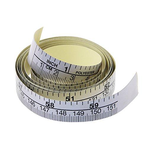 Selbstklebendes metrisches Maßband, Vinyl-Lineal für Nähmaschinen-Aufkleber, 151 cm