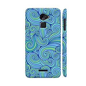 Colorpur Coolpad Note 3 Lite Cover - Hand Drawn Blue Waves Printed Back Case