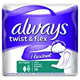 Always Twist & Flex Binden, Normal Plus, 10er Pack (10 x 14 Stück)