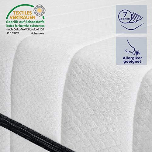 *Mister Sandman orthopädische 7-Zonen-Matratze für erholsamen Schlaf – Kaltschaummatratze H2&H3, Premium Doppeltuchbezug, Gesamthöhe ca. 15 cm, 90 x 190 cm H2*
