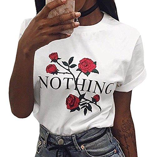 SHELERS Girl Power T-Shirt Feminismus Hemd 100% Baumwolle Kurzarm Unisex Slogan Spruch Damen T-Shirt Tops Bluse (M, Weiß01)