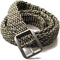 campsnail EDC Sopravvivenza Paracord 550–Doppio Cobra Weave cinghie con fibbia per cintura in metallo per esterni, Forest Camo