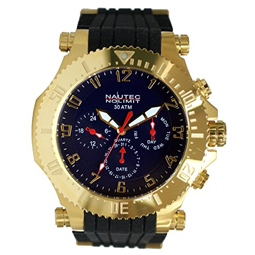 Nautec No Limit Men's Quartz Watch Street King STKG-QZ-RBGDGD-BL with Rubber Strap