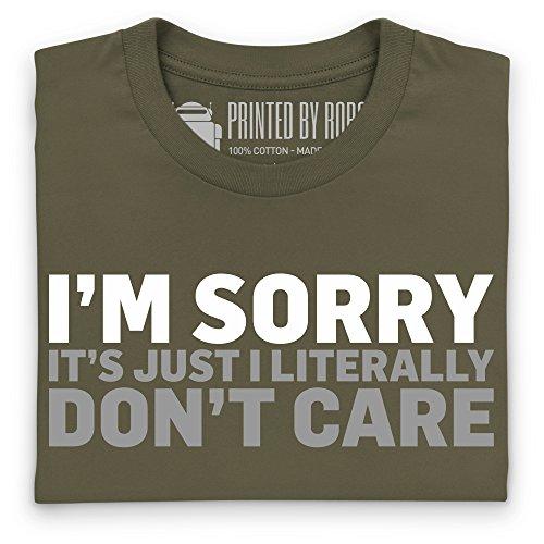 Don't Care T-Shirt, Herren Olivgrn