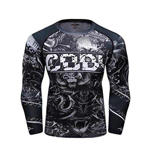 KIND NY Herren Longsleeve Basic Sweatshirt 21 Modelle Langarm Shirt Pullover Kompression Kleidung Sport Running Radfahren Training Wandern Basketball,Q,M