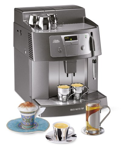 Solis Master Top Anthrazit 2-Tassen-Kaffee-Vollautomat der Profiklasse