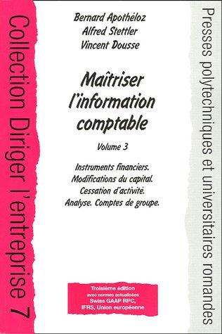 Maîtriser l'information comptable :...