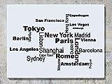 Land Hauptstadt Städte Stadt Namen Wanddekoration Aufkleber Bild Andere Größen Erhältlich Kariert Angebote