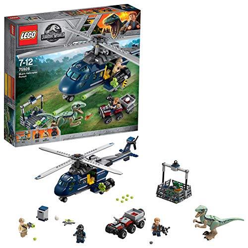 LEGO Jurassic World - Persecución en Helicóptero de Blue, Juguete para Niñas y Niños de 7 a 12 Años...