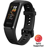 """HUAWEI Band 4 Smart Band, Fitness Activities Tracker with 0.96"""" Color Screen, 24/7 Continuous Heart Rate Monitor, Sleep Tracking, 5ATM Waterproof, up to 6 Days of Usage Time, Graphite Black"""