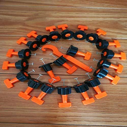 FireAngels - 50 piezas de nivelación de azulejos de pared con clip de plástico ajustable para localizador, alicates, cuñas y herramientas de mano