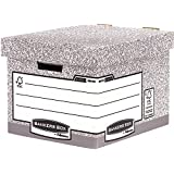 Fellowes Bankers Box 00810-FF System Storage Box, Standard - Grey, Pack of 10