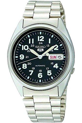 SEIKO SNX809K1 – Reloj de Caballero movimiento automático con correa de caucho