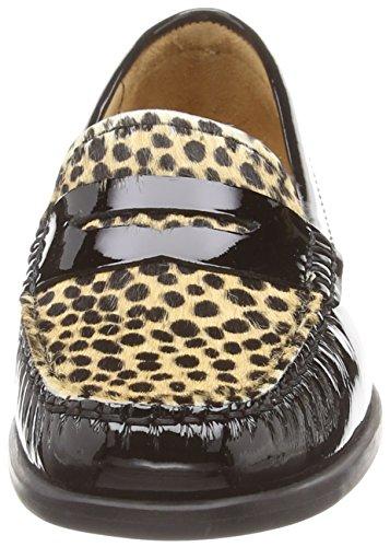 Van Dal Hampden, Mocassins femme Noir (cheetah)