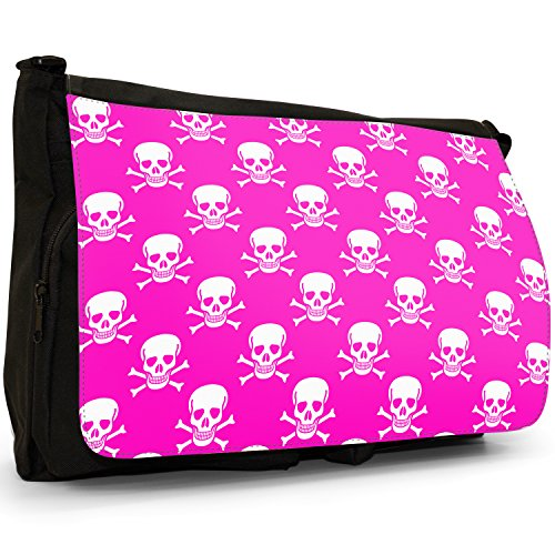 Fancy A Snuggle, Borsa a spalla donna Pink Pirate Skull & Cross Bone