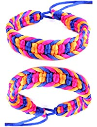 DonDon 2 farbige Unisex Freundschaftsarmbänder bzw. Partnerarmbänder Modellauswahl