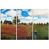 Arte Dal mondo ME073TVAT -01 ir a través de la mayoría de amapolas hecha a mano de pintura al óleo sobre lienzo con marco