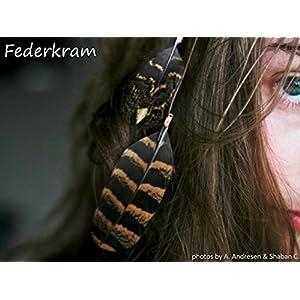 2×2 Feder Haarclips handgemacht, Haarschmuck Federn Federschmuck
