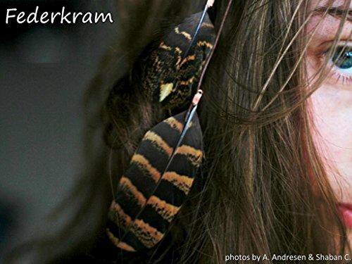2x2 Feder Haarclips handgemacht, Haarschmuck Federn Federschmuck