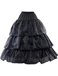 HIMRY Design Jupon de Mariée en Crinoline, 3 Cerceau, avec lacet, Taille Unique, Adéquat pour Taille 34, Taille 36, Taille 38, Taille 40, Taille 42, Taille 44. KXB-0026