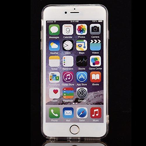 """Handyhülle für iPhone 6sPlus, Transparent Kristall CLTPY Ultra Hybrid 2 in 1 Weichsilikon & Hartplastik Schale Etui für iPhone 6Plus, Glitzer Frei Fließenden Flüssigkeit Treibsand Fall für 5.5"""" Apple  Blau"""
